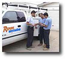 Repipe Specialists company truck